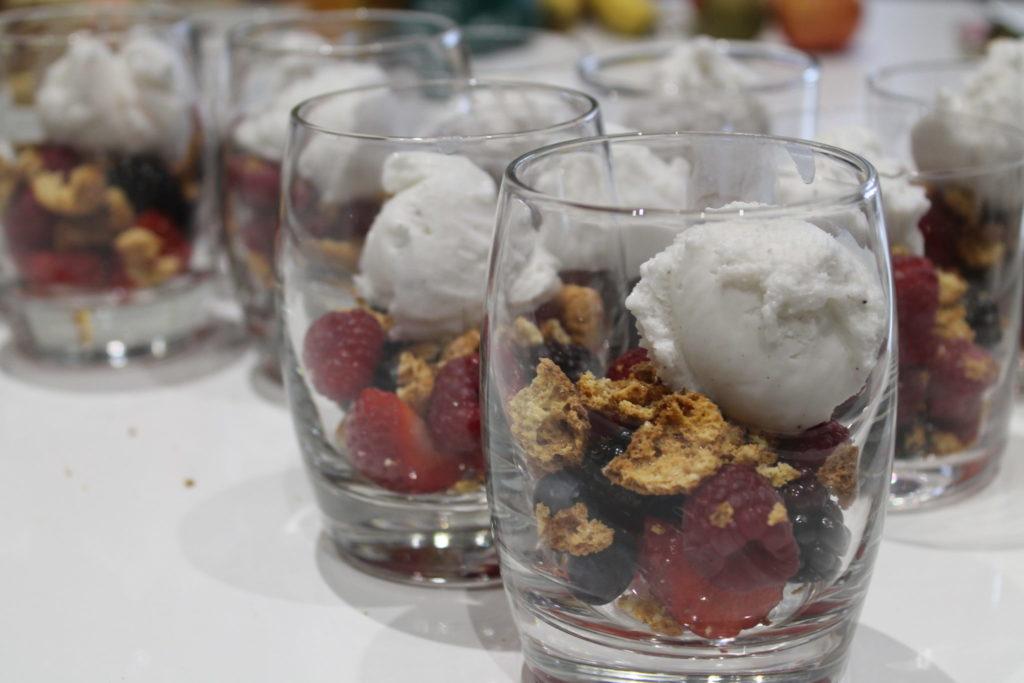 fruit and ice-cream